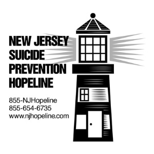 New Jersey suicide prevention hopeline logo